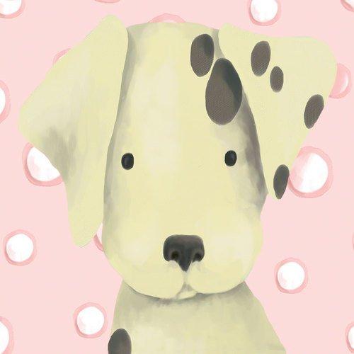 Oopsy Daisy Radley The Dalmatian Powder Pink Stretched Canvas Wall Art by Meghann O'hara - 1