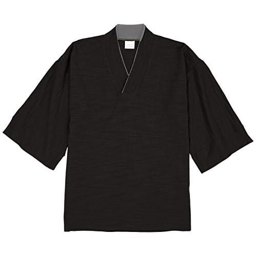 (ブーテンショウテン)BUDEN SHOTEN 豊天商店 つむぎ和みカットシャツ BU1131013  19ブラック M