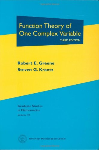 Function Theory of One Complex Variable: Third Edition...
