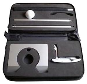 Puttingset exclusiv Aluminium,Büro Golf, Golf Set im Koffer