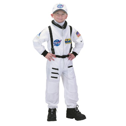NASA Jr. Astronaut Suit White Toddler Child Costume