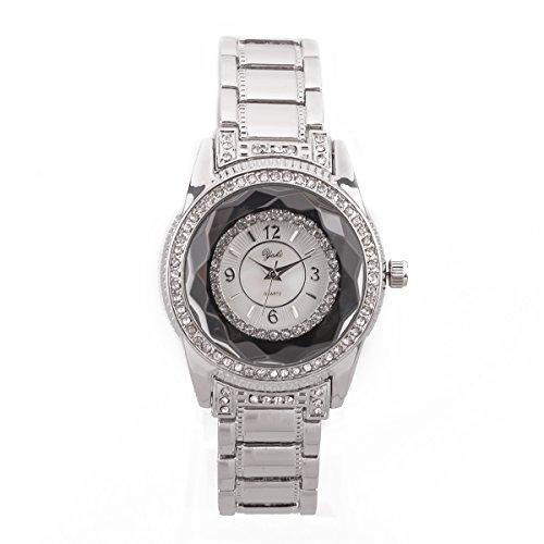 Yaki marche di orologio bracciale donna, orologi da polso moderni al quarzo con display analogico e cinturino in lega