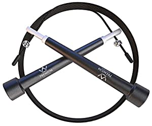 Jump Rope - #1 Speed Jump Ropes Fully Adjustable Strong Cable - Crossfitness Training Exercise Boxing/MMA Endurance Workouts-Increase Rpms Master Double Unders, Weight Loss - Improve Health Now! + Free Bonus: What You Should Know About Jumping Rope