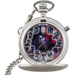 DR WHO ZEON 50th Anniversary Fob Watch 11 incarnations of the Doctor