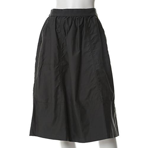 (イネド)INED タイプライターギャザースカート チャコールグレー 07