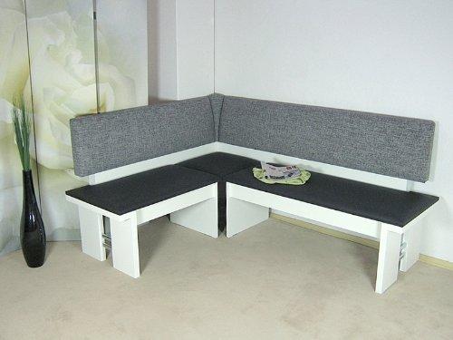 moderne Eckbank weiss Sitzecke Esszimmer Kuche Melamin design hochwertig neu