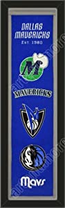Heritage Banner Of Dallas Mavericks-Framed Awesome & Beautiful-Must For A... by Art and More, Davenport, IA