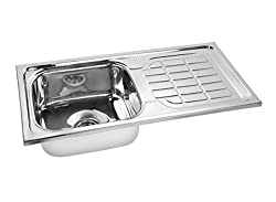 Gargson Kitchen Sink With Drain Board Stainless Steel Sink, Size 37 X 18 X 8 inches