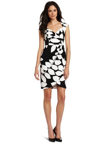 Maggy London Women's Cotton Jacquard Dress