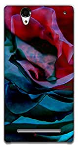 The Racoon Lean Petals hard plastic printed back case / cover for Sony Xperia T2 Ultra