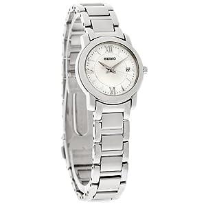 Seiko Quartz Ladies Silver Tone Stainless Steel Bracelet Watch SXDC19