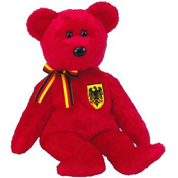 TY Beanie Baby - GRAF VON ROT the Bear (Germany Exclusive)