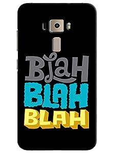 Omnam Blah Blah Effect On Black Background Designer Back Cover Case for Asus Zenfone 3 ZE552KL
