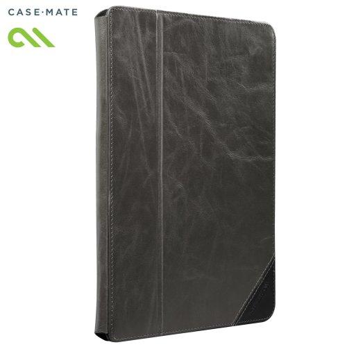 Case-Mate 日本正規品 iPad Retinaディスプレイモデル (第4世代) / iPad (第3世代) / iPad 2 対応 Signature Slim Stand Case, Grety / Black スタンド機能つき ブックタイプ 本革レザー ケース「Signature Slim Stand」 グレー/ブラック CM020417