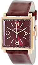 Marc by Marc Jacobs Truman Maroon Dial Maroon Leather Ladies Watch MBM1277