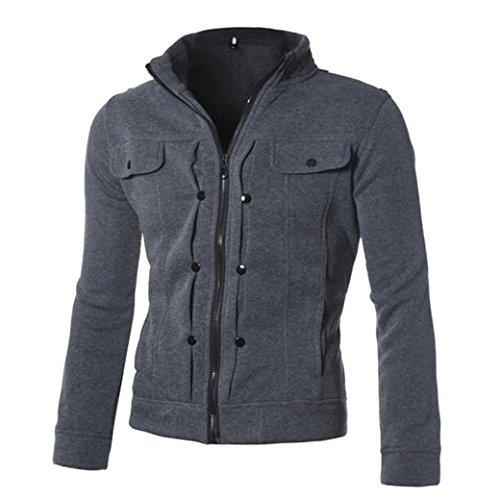 mens-long-sleeve-zipper-hoodies-sweatshirt-tops-jacket-coat-outwear-m-dark-grey