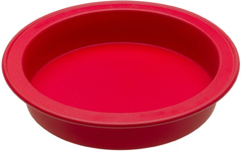 KitchenAid Silicone Bakeware 9-Inch Round Cake Pan, Red