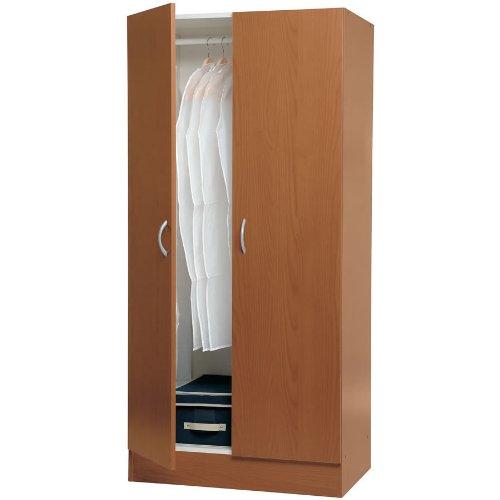 Acquistare Armadio legno semplice guardaroba kit due ante e due ...
