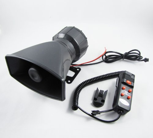 5 Tone Siren And Microphone For Motorcycle Car Van Truck 5 Sound Loud Horn 12V
