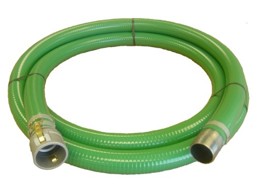 "Abbott Rubber PVC Suction Hose Assembly Green 1-1/2"" Female Cam and Groove X Male NPT  70 psi Max Pressure 20' Length 1-1/2"" ID at Sears.com"