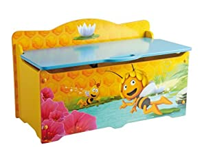 Fun House 711720 - Baúl de madera para juguetes, diseño de la Abeja Maya - BebeHogar.com