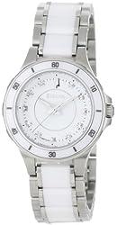 Bulova Women's 98P124 Substantial Ceramic & Stainless Steel Watch