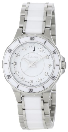 Bulova Women's 98P124 Substantial Ceramic & Stainless Steel Watch