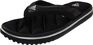 adidas Performance Men's Zeitfrei FF Thong Sandal, Core Black/Core Black/Silver/Metallic, 7 M US