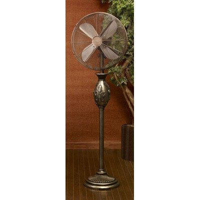 Sixteen Inch Floor Standing Fan Fleur De Lis (Brown) (54.5