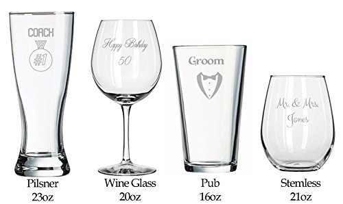 Make-Your-Own-Wedding-Toasting-Glasses-Birthday-Gifts-Anniversary-Present-Wedding-Shower-Sports-Game-Day-Football-Birthday-Cheer-Wedding-Favors-Bridal-Shower