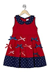 Soulfairy Girls' Dress (SS16-DRSNAU-208_Red_6-12 Months)