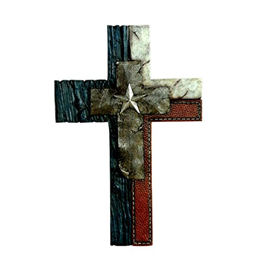 Wall Crosses Home Decor : Gift craft antique brown western cast iron wall cross
