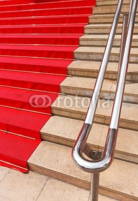 """Wallmonkeys Peel and Stick Wall Decals - Famous Red Carpet in Cannes France - 24""""H x 16""""W Removable Graphic"""