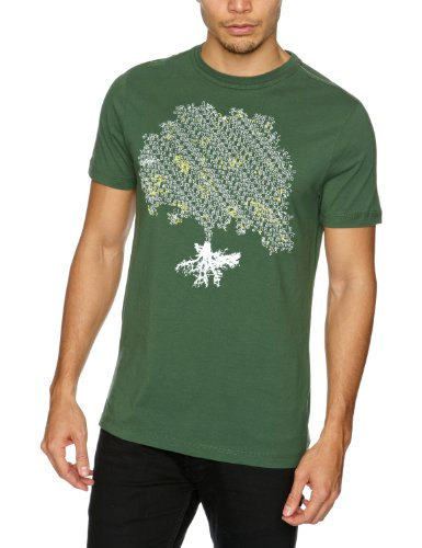 Duck & Cover Mills Men's T-Shirt Bottle Green L