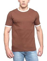PepperClub Men's Cotton Round Neck Half Sleeve Tshirt