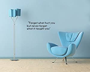 JENSYA Forget What Hurt You Wall Sticker Decal Removable Vinyl Name Wall Art Decal from JENSYA