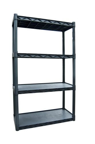 Plano Molding 904 Four-Shelf Utility Shelving, Dark Gray