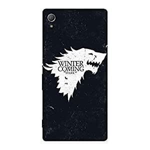 Cute Games Of Winter Grey Back Case Cover for Xperia Z3 Plus