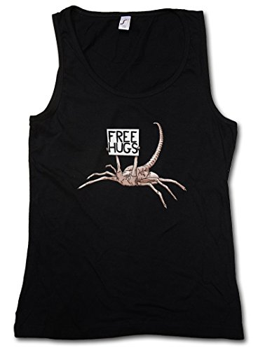 FREE HUGS HUGGER DONNA TOP - Facehugger Prometheus Ripley Yutani Saga Weyland Fun Alien DONNA TOP Taglie S - XL
