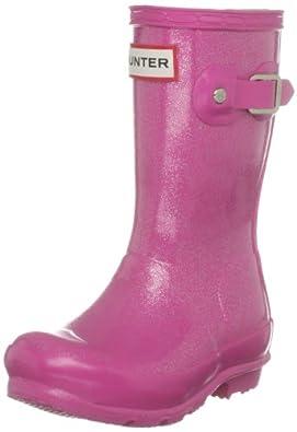 Hunter Orig Glitter Kids Fuchsia Wellington Boot W24183 7 Child UK