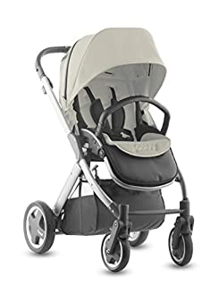 Joovy Qool Silver Single Stroller, Vanilla
