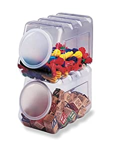 Pacon Interlocking Storage Container with Lid, Clear Plastic (PAC27660)