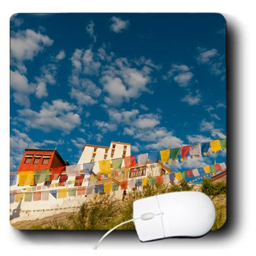 mp_188110_1 Danita Delimont - Ellen Clark - Flags - India, Jammu and Kashmir, Ladakh, prayer flags at Thiksey Monastery - Mouse Pads