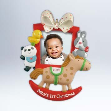 Hallmark 2012 Keepsake Ornaments Qxg4604 Baby's First Christmas Photo Frame Picture