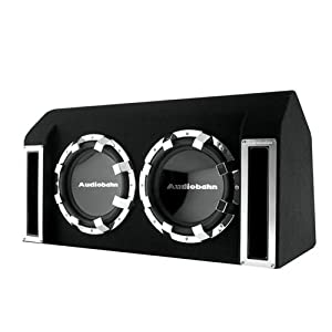 Audiobahn ABB122J 800W RMS, Dual 12-Inch Slot Ported Loaded Subwoofer Enclosure