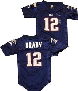 New England Patriots Tom Brady Reebok Navy Infant Jersey by Reebok
