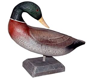 Weathered Decoys 16 in. Hand Painted Preening Mallard