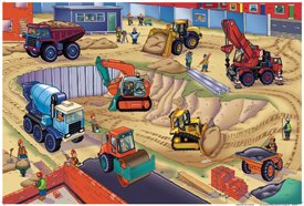 Picture of Fun Galt Childrens Toys Construction site A1013K (B000LJNF52) (Floor Puzzles)
