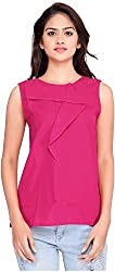 OSSI Women's Sleeveless Top (HS3067, Pink, X-Large)