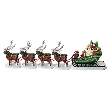#!Cheap Department 56 North Pole Sleigh and Eight Tiny Reindeer